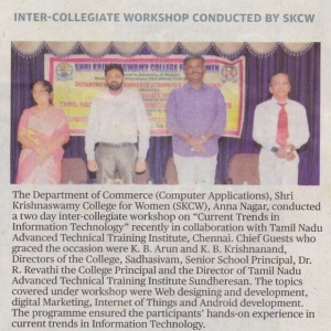 INTER-COLLEGIATE WORKSHOP