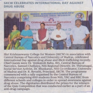 INTERNATIONAL DAY AGAINST DRUG
