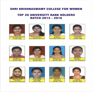 Top 20 University Rank Holders 2016